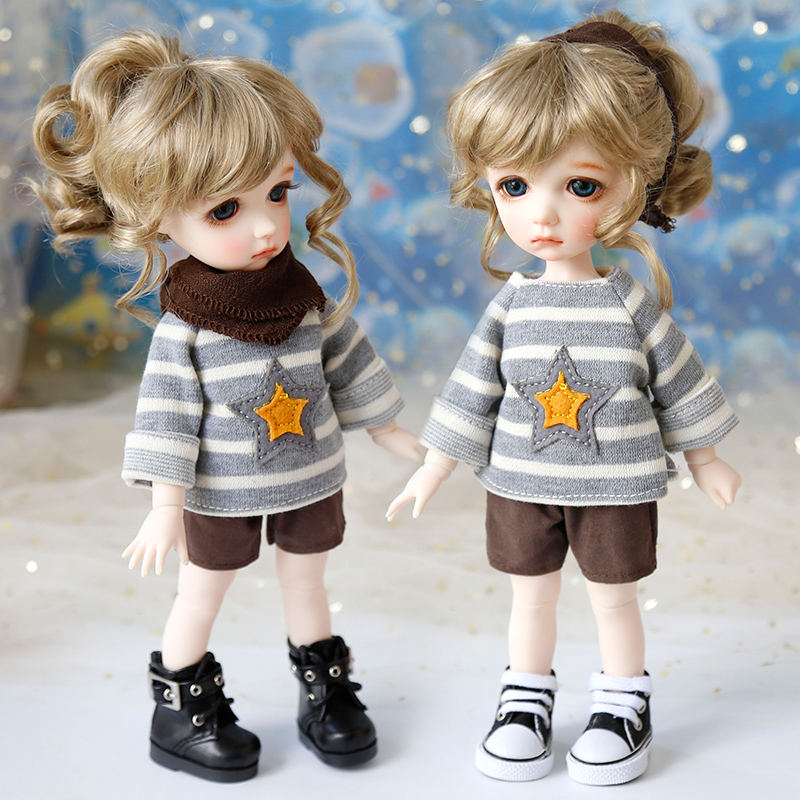 1/4 1/6 Bjd Baby Clothes SD Doll Clothes Casual Sweater Shorts Set Joint Doll Clothing Accessories Children Toys