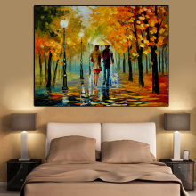 s Painting Landscape Posters and Prints Colorful Oil Painting Street Tree Wall Pictures for Living Room Cuadros Home Decor