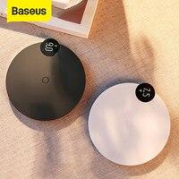 Baseus pantalla Digital LED cargador inalámbrico para iPhone X XR XS Max 8 Qi inalámbrico rápido cargador para Samsung Galaxy S10 S9 S8 P30|Cargadores inalámbricos| |  -