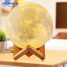 2 Colors 3D Print LED Night Light Rechargeable Moon Lamp Bedroom Decoration Touch Control Creative Touch Switch Child Moonlight cheap NoEnName_Null CN(Origin) none Night Lights HOLIDAY Touch the bottom charging hole to switch the color of the light Tap the shell of the sphere to switch the light color