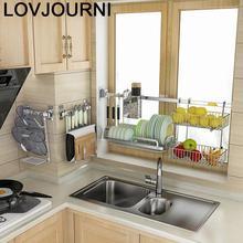 Égouttoir de vaisselle en acier inoxydable, organiseur dévier pour fournitures de Cuisine, organiseur de Cuisine support étagères