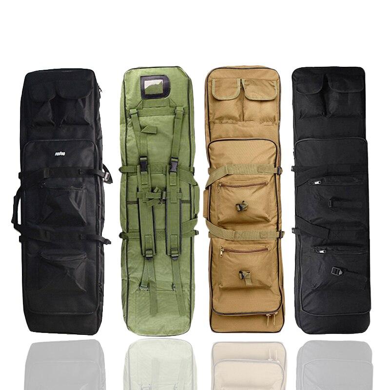 Militar 85 96 100 120cm rifle mochila caso saco de arma duplo rifle airsoft saco ombro ao ar livre protable caça acessórios pacote