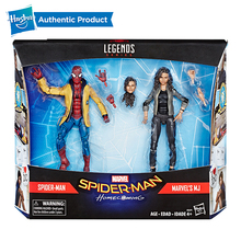 Hasbro Marvel Legends Spider-Man Homecoming Spider man and MJ 2 Pack For Child 4 Years Up 6 inch Legend