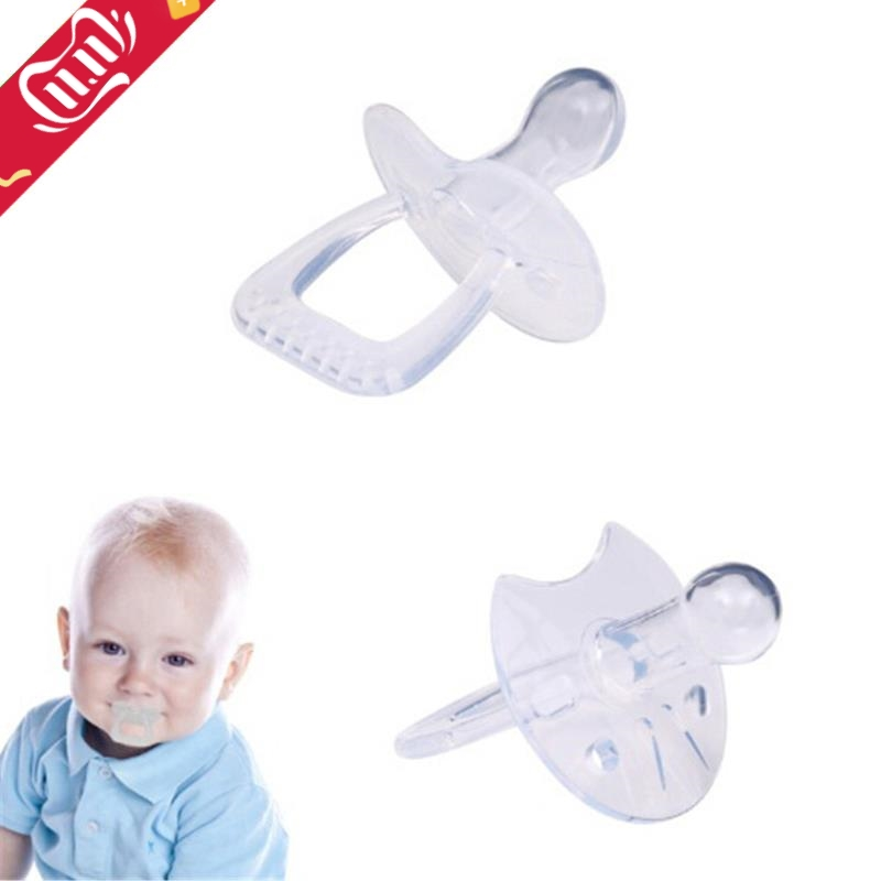1PCS Silicone Gel Love Heart Shape Simple Clear Transparent Safe Baby Care Infant Toddler Pacifier Flat Round Nipple