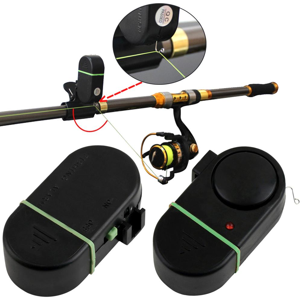 Portable Electronic LED Light Clip-on Fishing Rod Fish Bite Sound Alarm Bell New Chic