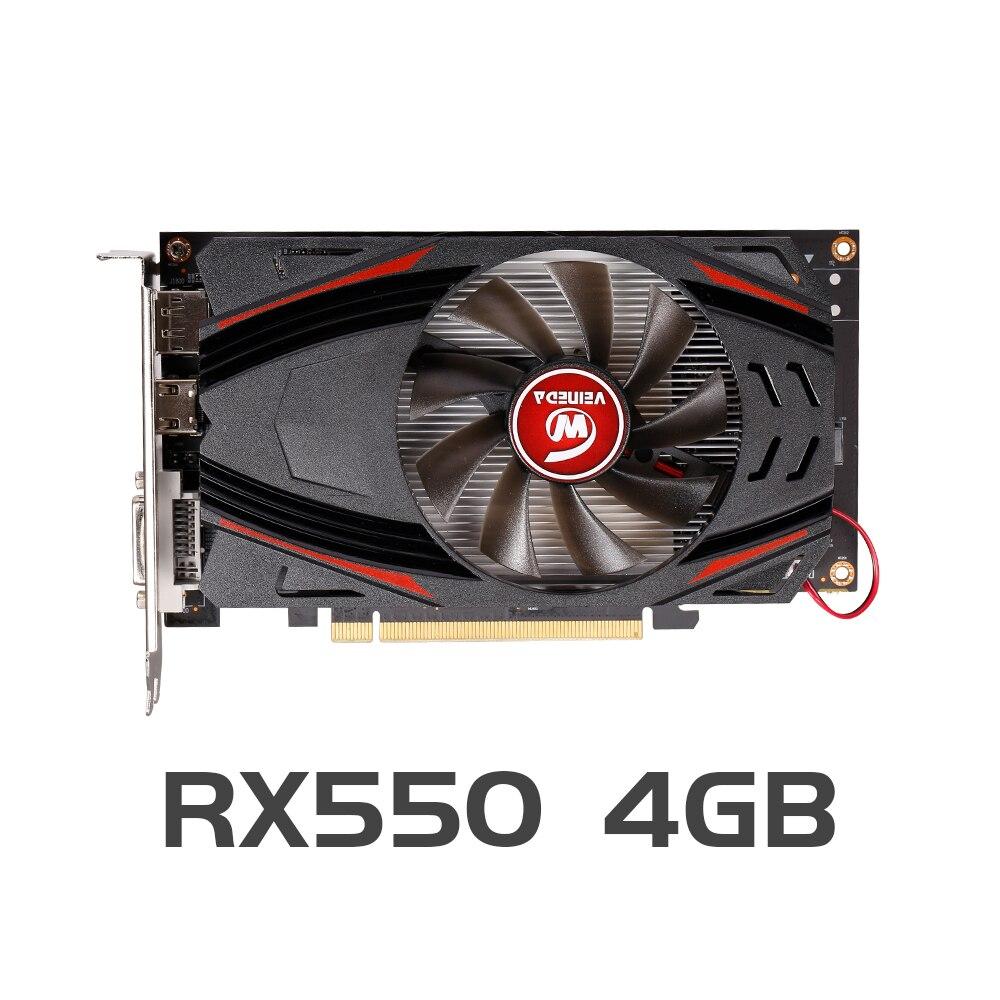 VEINEDA RX550 4GB Graphics Cards GDDR5 128bit GPU For AMD Radeon rx 550 series Video Card Desktop PC Video Gaming Graphics Cards    - AliExpress