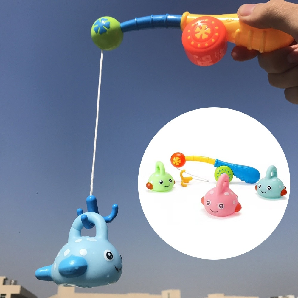 Baby Fishing Bath Toy Learning Fishing Floating Squirts Toy Bathtub Bathroom Pool Toy For Kids Toddler Baby Boys Girls (4Pcs)