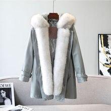 Frauen Winter Jacke Kaninchen Haube Bewertungen – Online