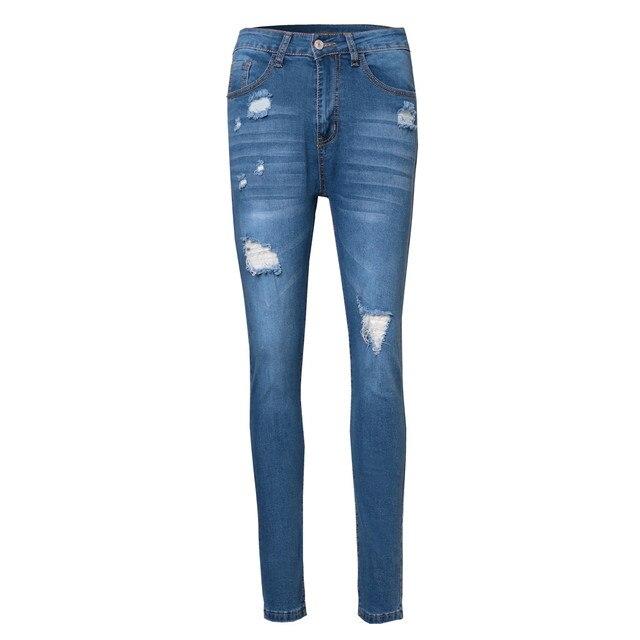 Denim Ripped Biker Jeans 2