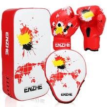 En zhe/детские боксерские перчатки, тренировочные Панч-перчатки, комбинация для ног, кик-пад, фокус-перчатки, комбинированные детские перчатки