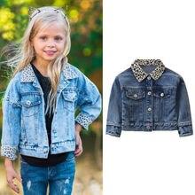 Denim Jacket For Baby Boys Girl Leopard Jean Coat J
