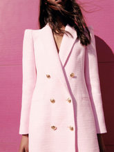 ZA early spring new women's sweet temperament lapel buttoned decorative texture texture casual suit jacket