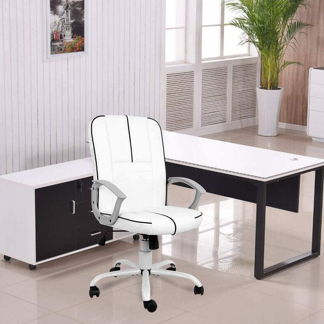 office executive chair ergonomic Leather computer game Chair Internet chair for cafe household chair White 2