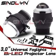 Sinolyn-Juego de luces led antiniebla universales, accesorio de iluminación para coche, luz PTF, resistente al agua, 2 uds.
