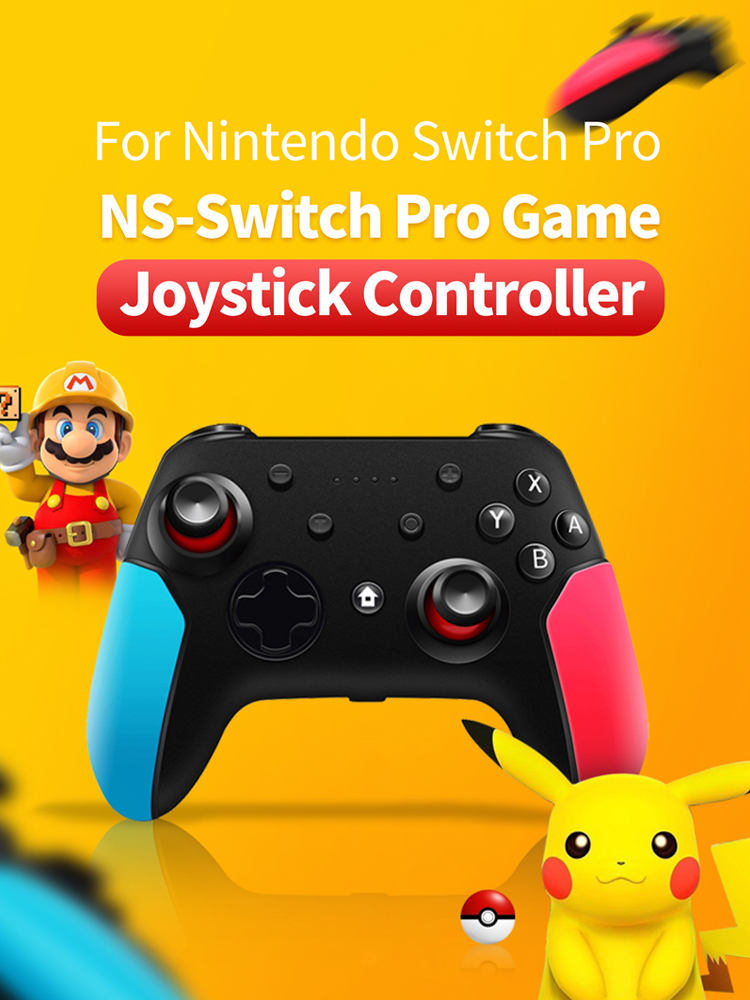 Wireless Gamepad Joystick-Controller Switch Pro Bluetooth Nintendo 6-Axis-Handle