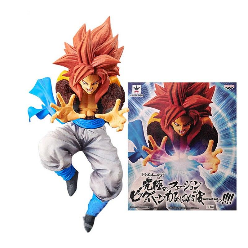 20cm Banpresto Dragon Ball GT Gogeta Vegeta Super Saiyan 4 Big Bang Kamehameha PVC Figure Model Doll Toy