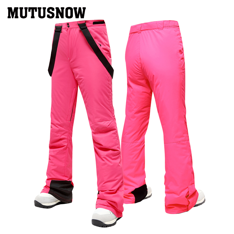 MUTUSNOW Skiing Pants Women's New Arrival Ski Trouser Snowboard Female High Quality Snow Pants Windproof Waterproof Breathable