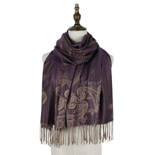 women stole jacquard scarf pashmina cotton paisley mujer cape shawl brand opera cappa amice wraps shawls