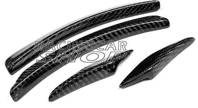 AMG STYLE REAL CARBON FIBER WHEEL ARC WHEEL TRIM SPOILER FOR BENZ W204 C-CLASS C200 C230 C280 C300 C250 C180 C350  08-2012 M075 6