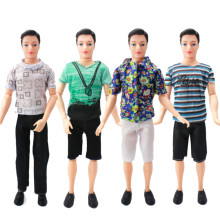Mix Prince Ken Doll Clothes Fashion Suit Cool Outfit For Barbie Boy KEN Doll Accessories Presents Baby Gift DIY Toys