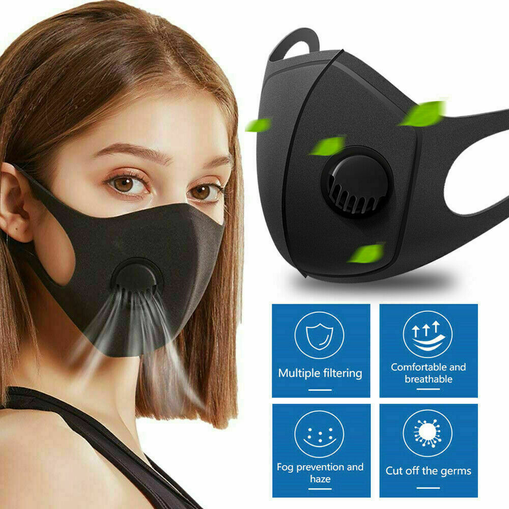 Washable Anti-stof Veilig Ademend Mond Masker Anti-Fog Haze Face Mouth Cover Protetion Filter Respirator-Breathable