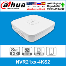 Dahua Original 4K NVR NVR2104-4KS2 NVR2108-4KS2 NVR2116-4KS2 4/8/16CH 1U Lite Network Video Recorder H265 For IP Camera System