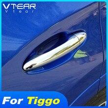Vtear Auto türgriff trim chrom styling ziehen paster abdeckung dekoration zubehör außen Rahmen teile Für Chery Tiggo 4 2020
