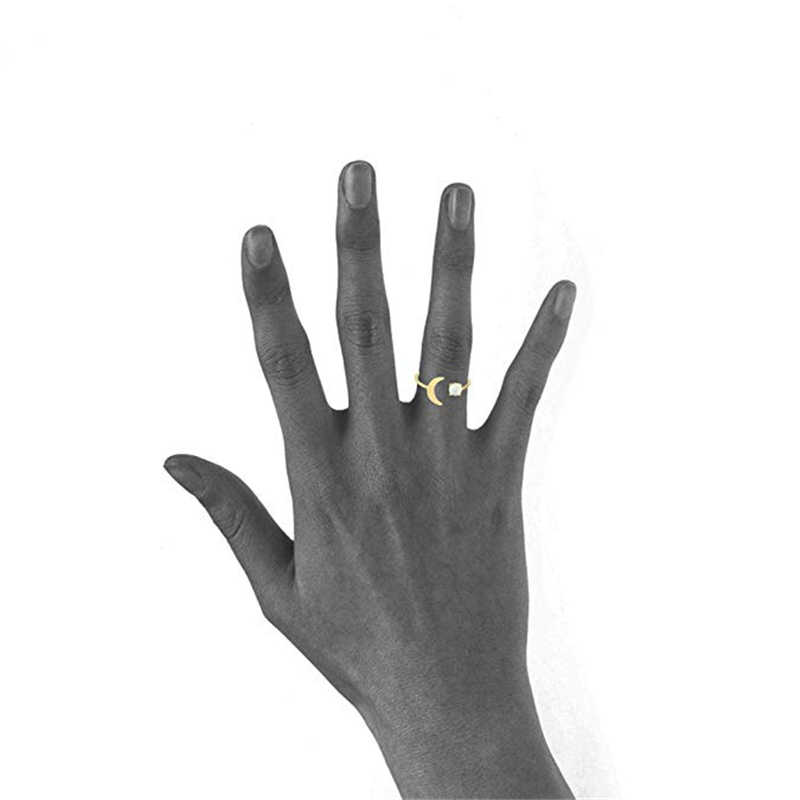Fire โอปอลแหวนงานแต่งงานแหวนหมั้นแหวนทอง Moon ออสเตรเลียอัญมณีหิน anillo สาวปรับนิ้วมือแหวน R5
