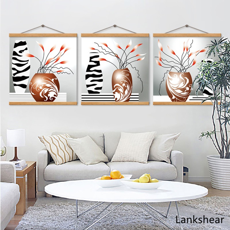 Abstract Flowers Vase Canvas Painting Unframed Nordic Decoration Home Modular Pictures For Living Room Wall Art Posters Artwork