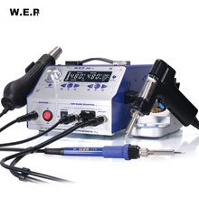 WEP 948-II Suction Tin Gun Desoldering Station Hot Air Gun Soldering Iron Suction Pen 4 IN 1 Intelligent Soldering Station
