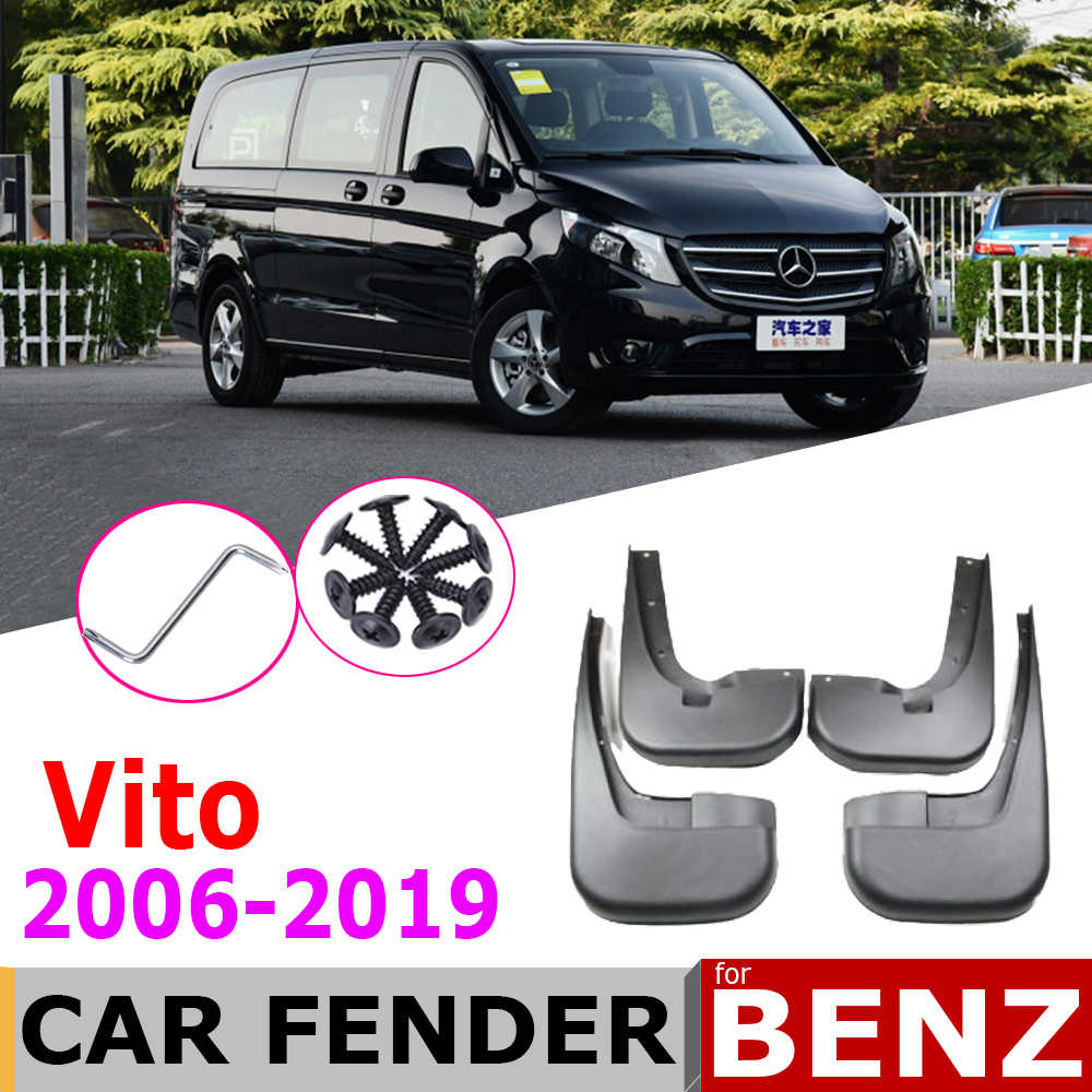 OutdoorKing Splash Fenders Mud Flaps Mudguard For Mercedes Benz Vito Viano V Class 2006~2019 W639 639 W447 447 Car Mudguards Fender Front Rear Splash Guards Paneling Mudflaps