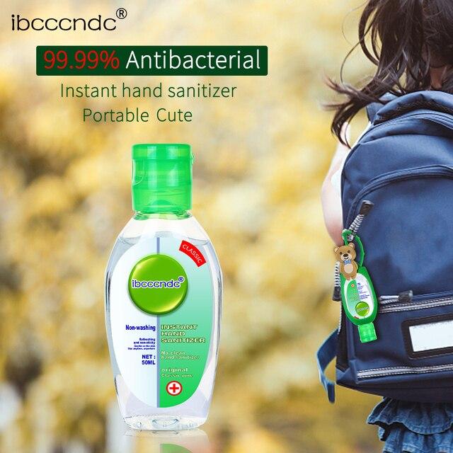 50ml Travel Portable Hand Sanitizer Gel Anti-Bacteria Moisturizing Liquid Disposable No Clean Waterless Antibacterial Hand Gel 1