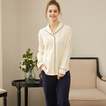 Winter Autumn Woman pajamas sets cotton sleepwear long sleev