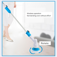 Multi function Household Wireless Electric Cleaning Machine With 3 Cleaning Brush Heads Light And Waterproof.