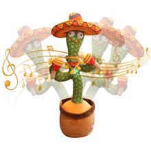 Dancing Cactus Electron Plush Toy Soft Plush Doll Babies Cactus That Can Sing And Dance Voice Interactive Speaking Toy For Kid