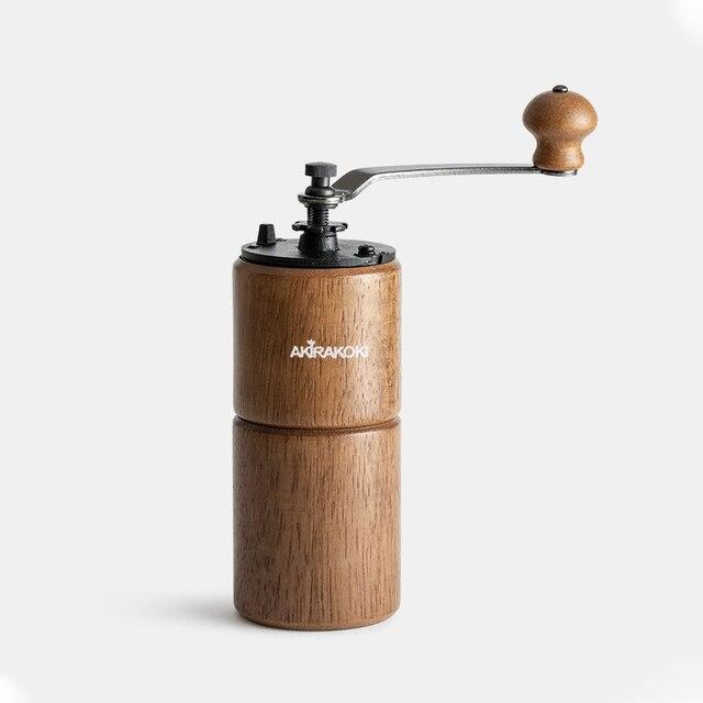 Moulin à café manuel AKIRAKOKI avec réglage réglable moulin à café conique broyeur à café pour goutteur à main française Mokapot