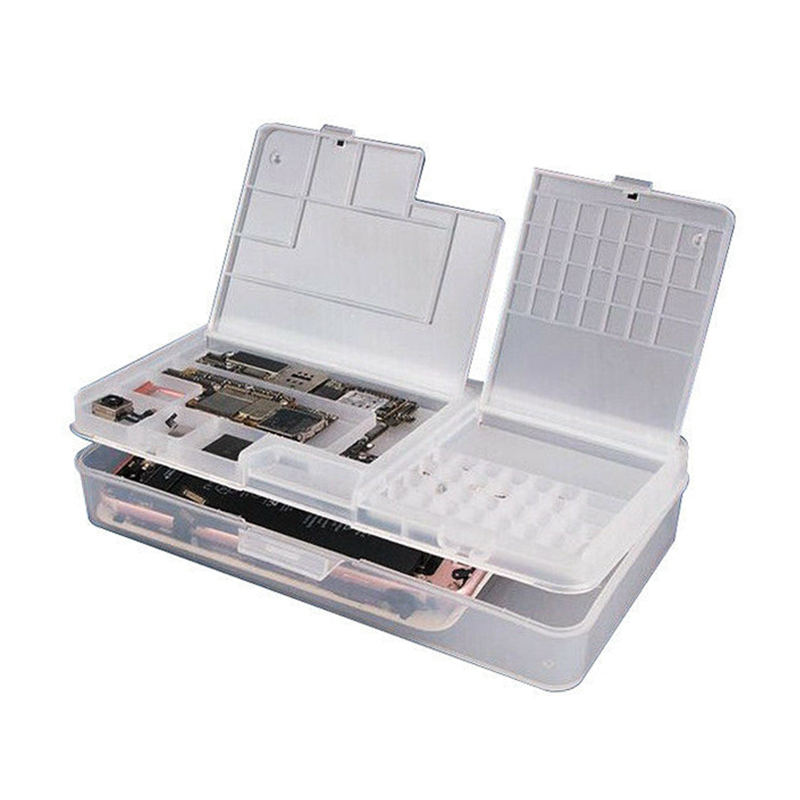 Multifunctional Cell Phone Repair Tool Box Storage Case For Phone Motherboard LCD Screen Screws Chips Storage Box