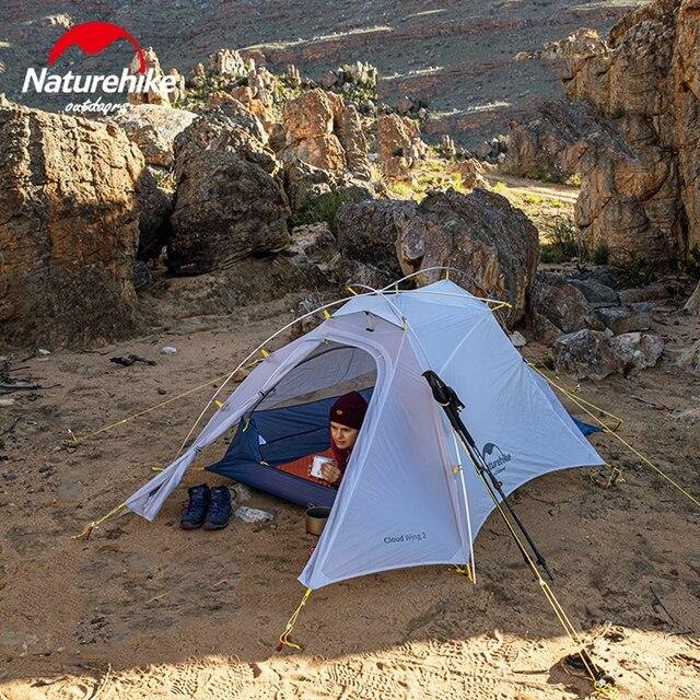 Naturehike Cloud Up Wing 2 Men Tent 15D Nylon Ultralight Portable Windproof Tents 2