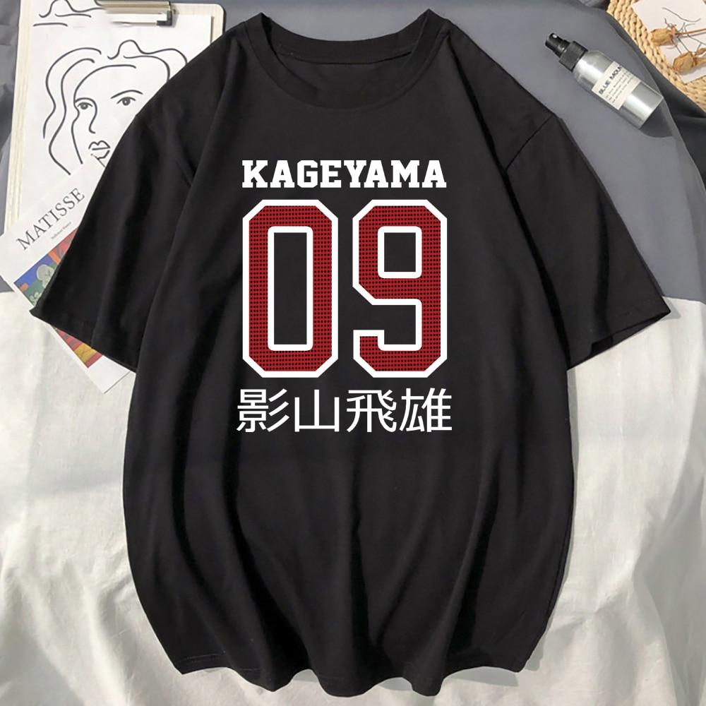 Haikyuu Anime Print T shirts Male Casual Summer Tops 2021 Hot Sell short Sleeve Casual Sportswear Japan Anime Man Loose Tee Top