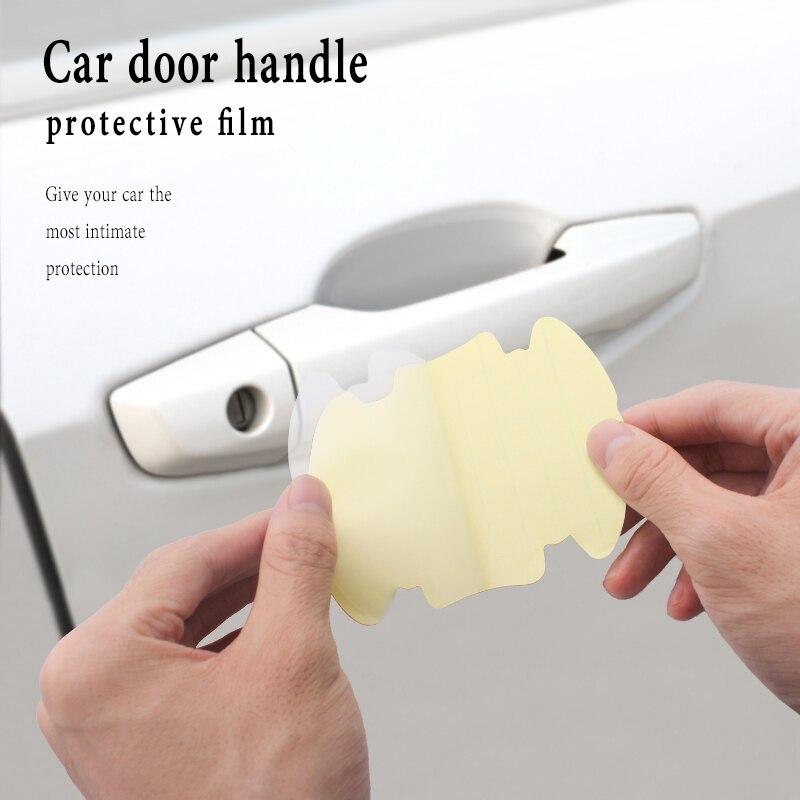 4Pcs Transparent Car Handle Protective Film for Hyundai Creta I10 I20 Tucson Elantra Santa Fe Solaris Creta Veloster
