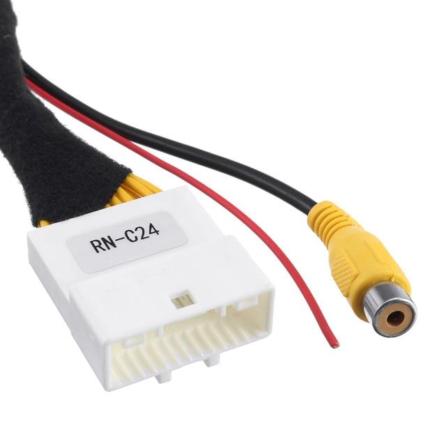 Nuevo interruptor de entrada de vídeo Original de 24 pines cámara de aparcamiento inversa RCA Cable adaptador para Renault Stepway vivara Dacia Sandero Clio 4