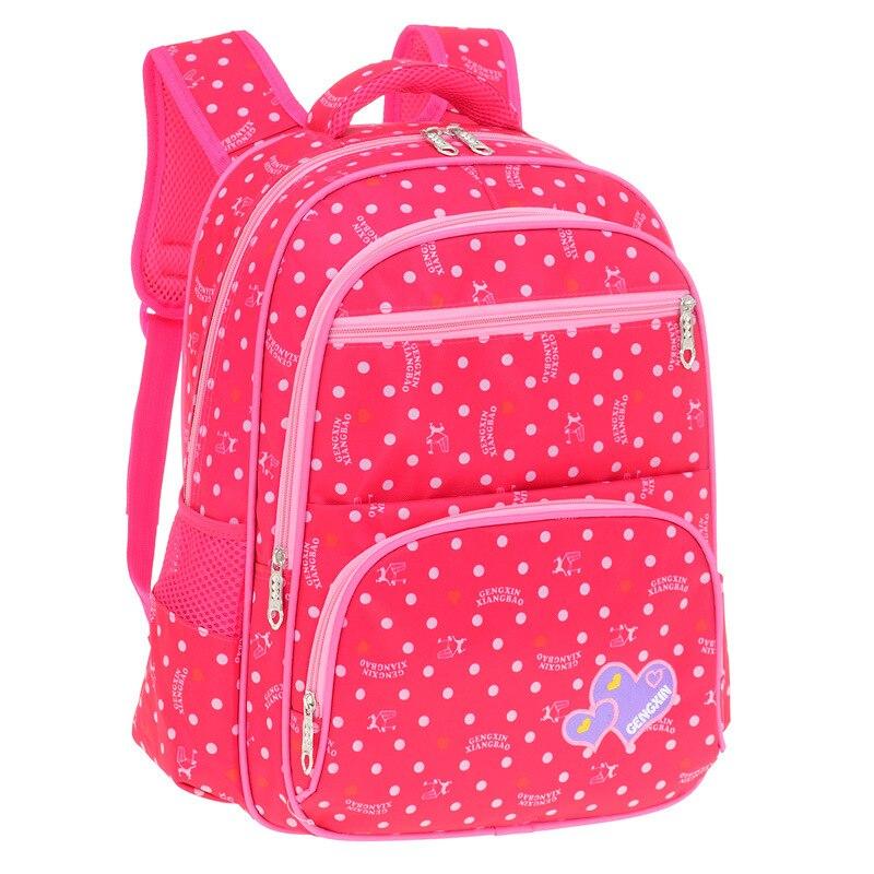 Childrens school bag college wind student handbag nylon waterproof children backpack teen girl corrective