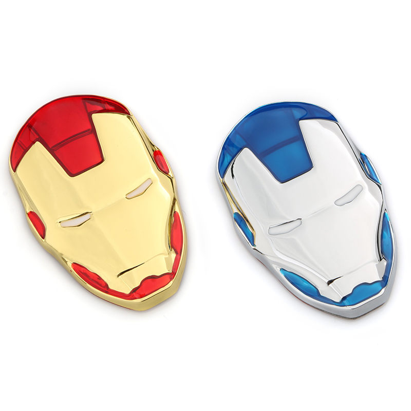 3D Metal Sticker Emblem Avengers Iron Man Styling Logo Bodywork Badge 5.8 * 4 Cm Car Decoration Accessories Multiple Colours