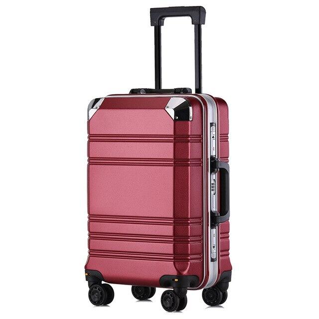 Novo 20 aluminum alumínio-moldado computador bagagem caso de negócios homens e mulheres caixa de check-in bagagem para mala de viagem carga spinner carry-ons
