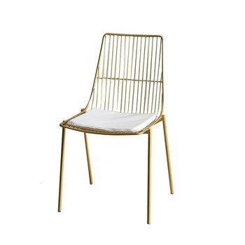 北欧中空アウトワイヤーメッシュ椅子レジャー時間コーヒー椅子椅子デザイナー鍛造鉄オリジナリティダイニング椅子