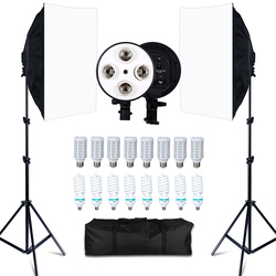 Foto Studio 8 Led 20W Softbox Kit Fotografische Verlichting Kit Camera & Foto Accessoires 2 Licht Stand 2 Softbox voor Camera Photo