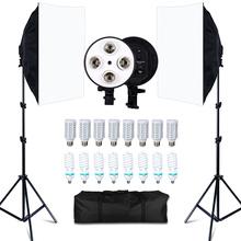 Photo Studio 8 LED 20W Softbox Kit Photographic Lighting Kit Camera amp Photo Accessories 2 Light Stand 2 Softbox for Camera Photo cheap SHRGXTZ001