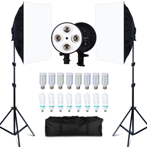 Photo Studio 8 LED 20W Softbox Kit Photographic Lighting Kit Camera & Photo Accessories 2 Light Stand 2 Softbox for Camera Photo(China)