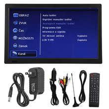 LEADSTAR 13 Cal kolor TFT-LED ATSC wysokiej czułości przenośna telewizja cyfrowa dla samochodów Camping odkryty ue wtyczka 110 ‑ 220V tanie tanio CN (pochodzenie) 12 1-16 cali FHD(1920*1280) 16 9 PAL (50Hz) NONE Wtyczka UE 1489g 1800mAh 13 Inch Digital TV LED Widescreen HDTV
