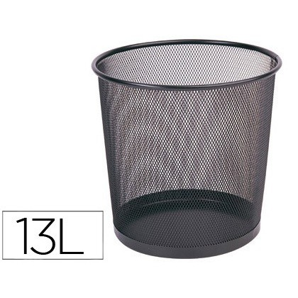 BIN METALICA Q-CONNECT PR-N BLACK-GRID-265X285 MM
